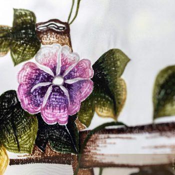 Rèm thêu tay hoa bìm bịp - Rèm cao cấp