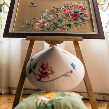 Tranh thêu hoa hồng - Tranh thêu tay Bình Minh