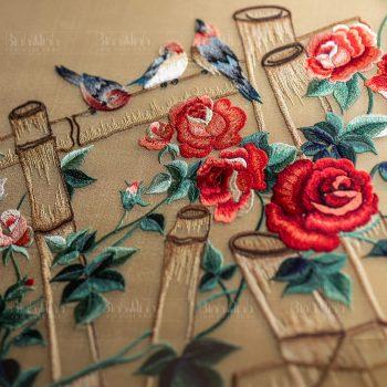 Tranh thêu hoa hồng - Tranh thêu Bình Minh