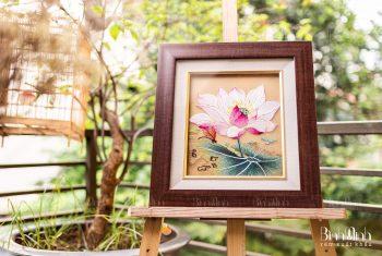 Một số mẫu tranh thêu hoa nổi bật hiện nay