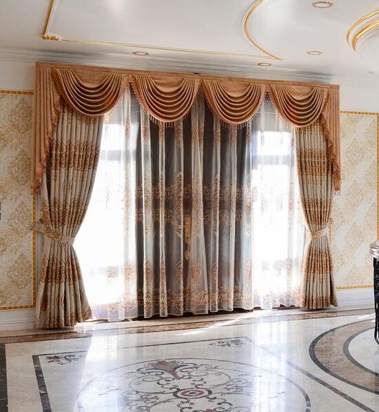 Rèm vải gấm Điểm Nhấn cho không gian phòng khác sang trọng