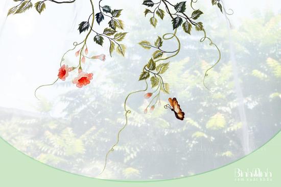 Rèm voan thêu hoa