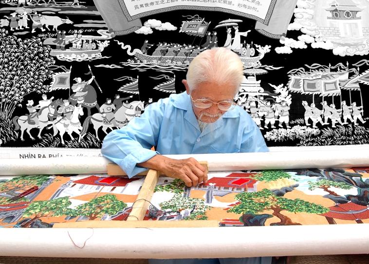 Làng nghề thêu Văn Lâm một nét đẹp truyền thống khó phai
