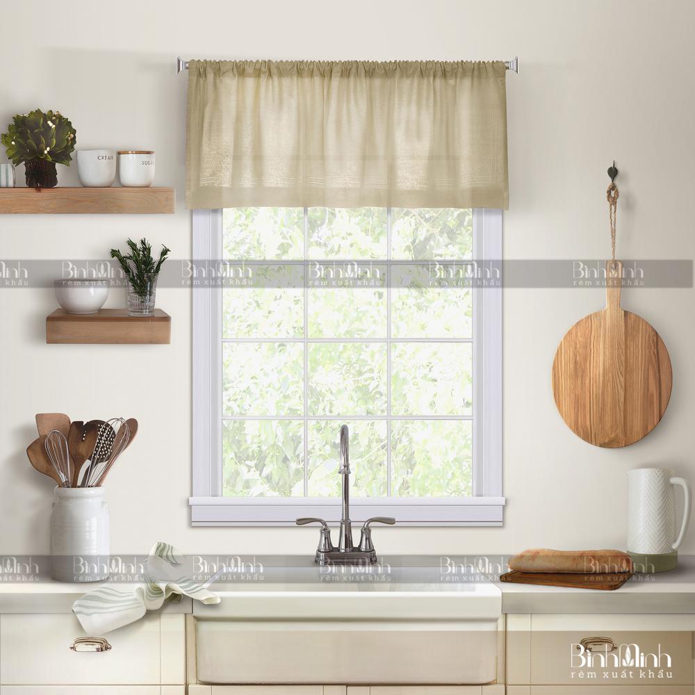 Rèm cửa vintage trang trí cho phòng ăn, phòng bếp