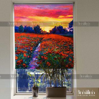 Rèm cuốn tranh phong cảnh