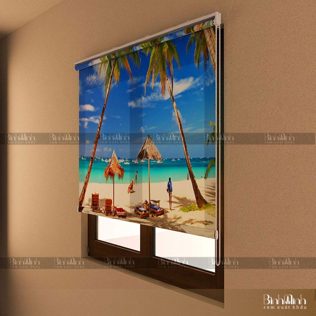 10 mẫu rèm cuốn tranh đẹp tạo điểm nhấn cho căn phòng