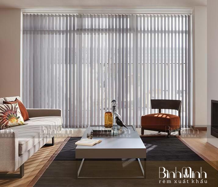 Rèm lá dọc được làm từ 60% PVC, 40% polyester