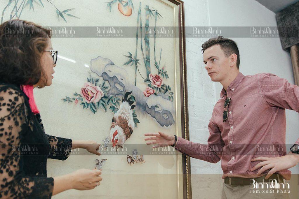 Lễ ký kết hợp đồng xuất khẩu phân phối rèm Bình Minh với đối tác Cyrillus Pháp 2021