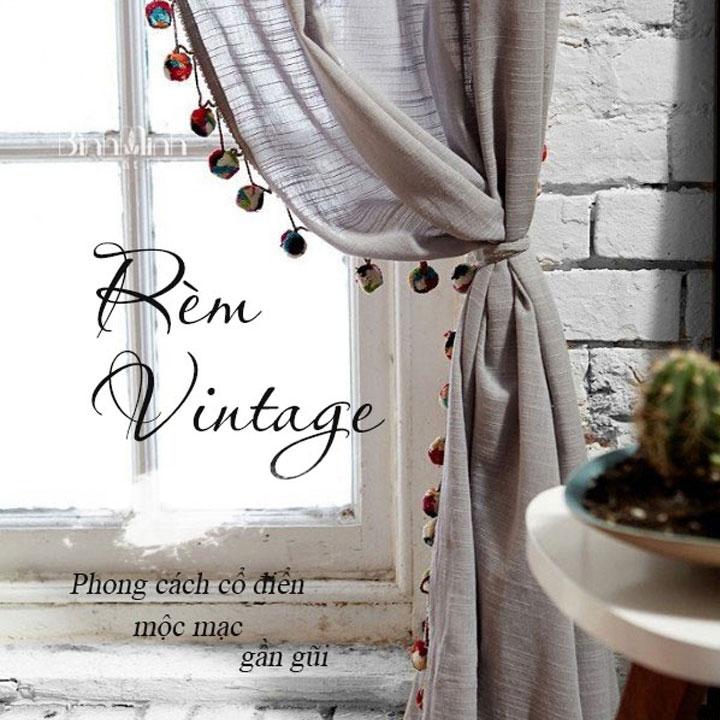 Rèm vintage cổ điển - Rèm cửa đẹp