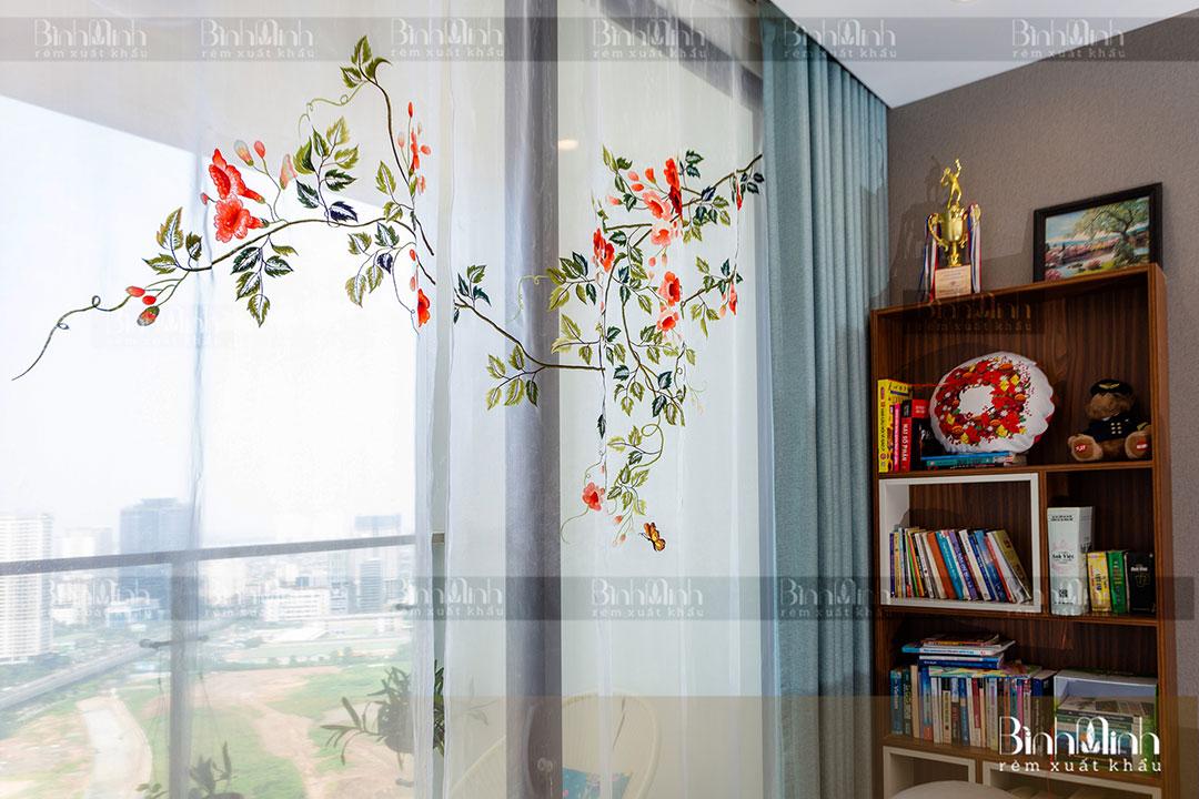 Rèm phòng khách căn hộ chung cư cao cấp KeangNam