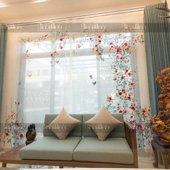 Top 3+ mẫu rèm vải hoa siêu Hot, đẹp lung linh