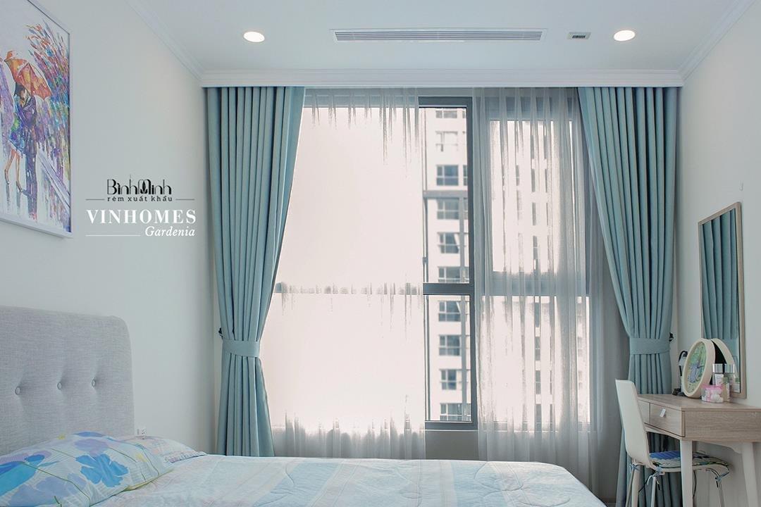 Rèm vải 2 lớp là loại rèm phòng ngủ phổ biến nhất