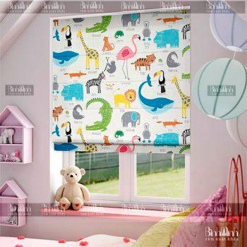 Lựa chọn họa tiết rèm thích hợp với phòng trẻ em