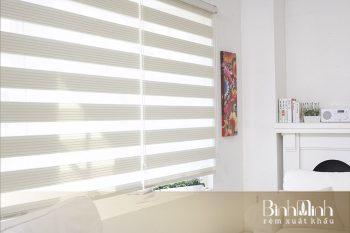 Lớp vải rèm cửa cầu vồng là vải tổng hợp cao cấp chống nắng tốt.
