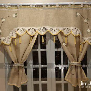Vẻ đẹp tinh tế, sang trọng của rèm vải thô Hàn Quốc