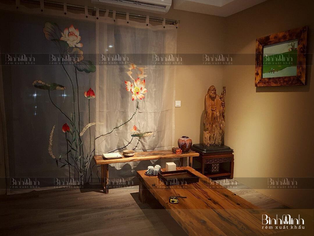 Mẫu rèm phòng thờ Phật ấn tượng