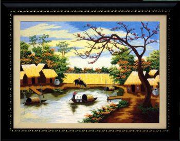 Bức tranh mang vẻ đẹp bình dị của làng quê Việt Nam