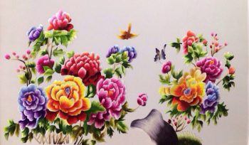Hướng treo tranh hoa mẫu đơn phù hợp