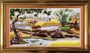 Những bức tranh thêu đồng quê - Vẻ đẹp quê hương bình dị