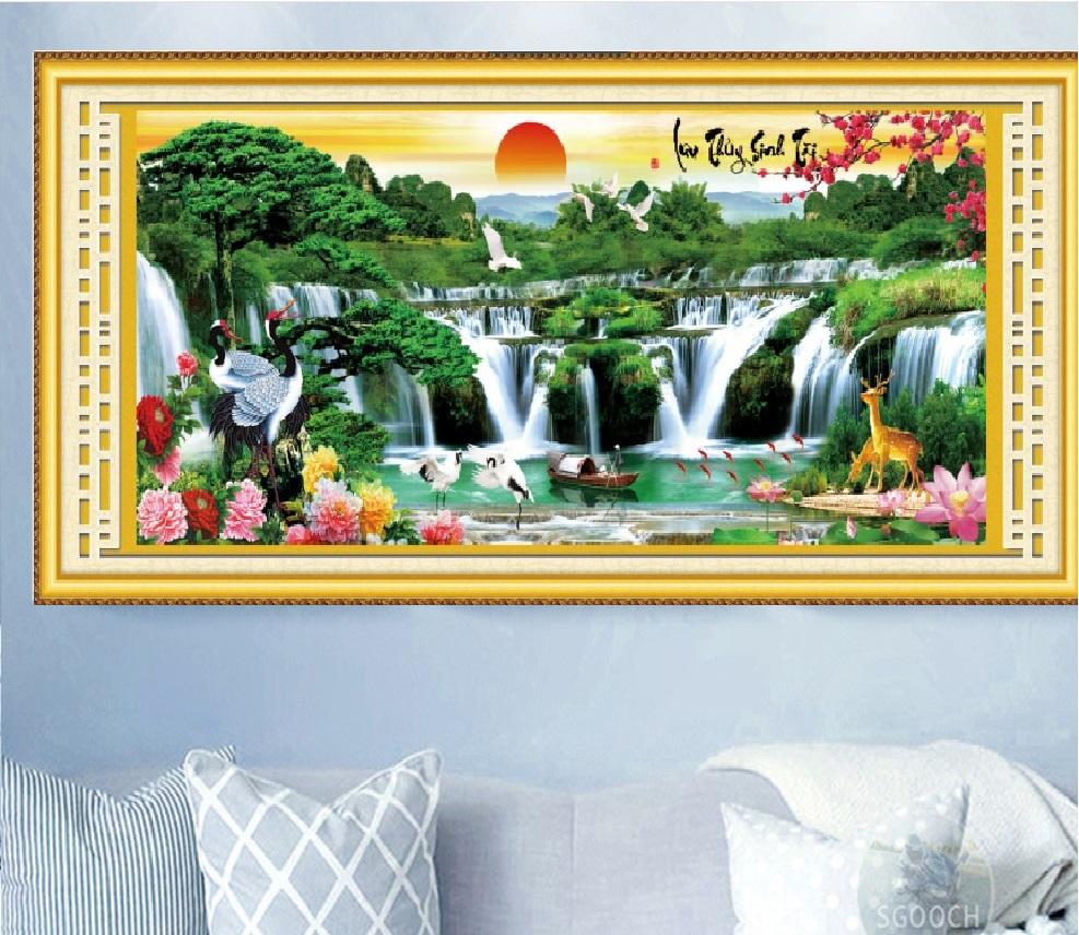 Những lưu ý khi chọn mua tranh thêu phong cảnh cho phòng khách
