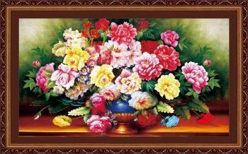 Tranh thêu hoa hồng hợp mệnh nào ?