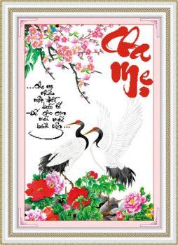 Tranh Thêu Tay Cha Mẹ – món quà ý nghĩa