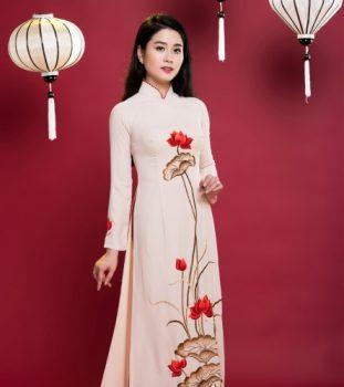 Cách lựa chọn áo dài thêu hoa sen chất lượng