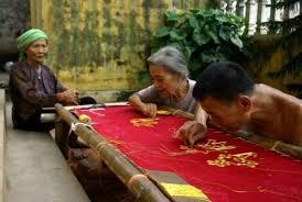 Làng nghề thêu Thượng Lâm một thời hoàng kim