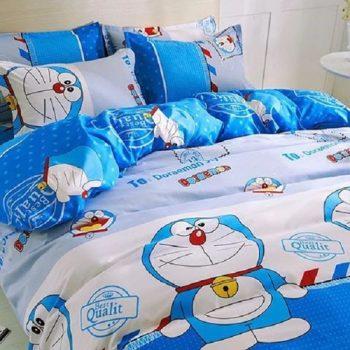 Một số bộ chăn ga gối hình Doremon dễ thương dành cho bé