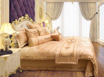 Chăn ga gối hoàng ga điểm cộng cho phòng ngủ sang trọng