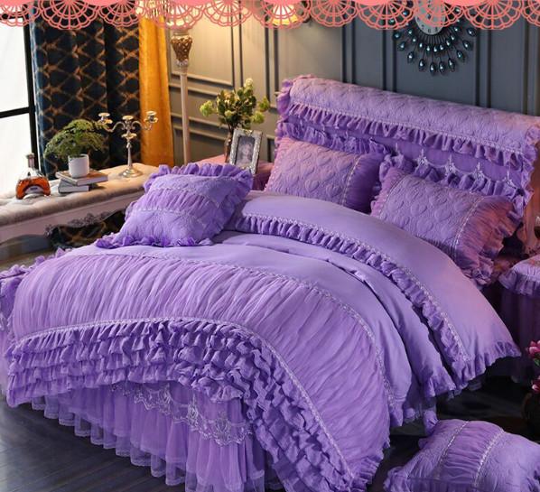 Giá trị những bộ chăn ga gối đệm màu tím mang đến cho phòng ngủ