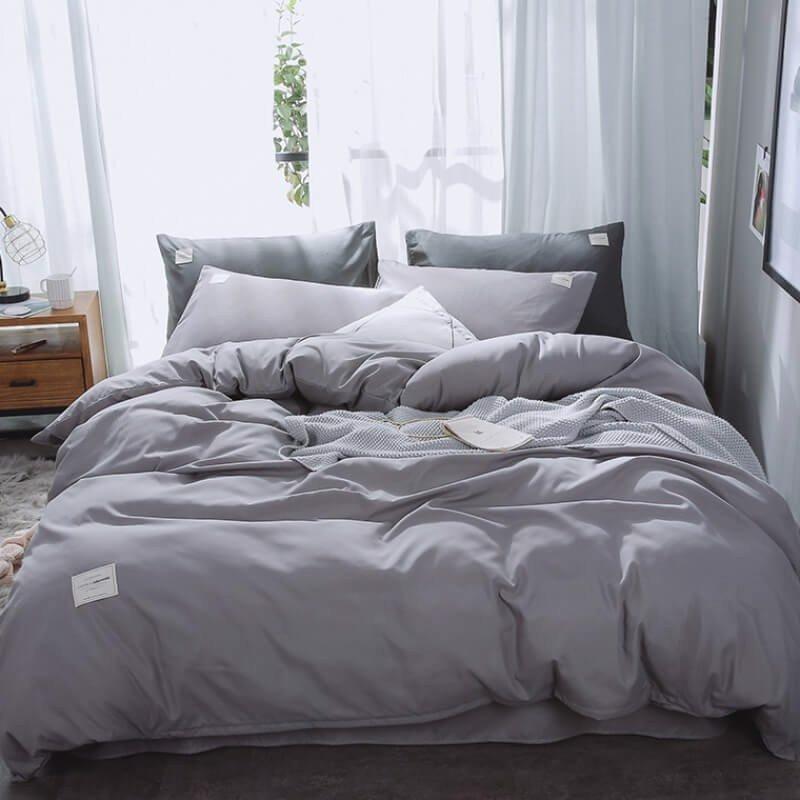 Những mẫu chăn ga giường màu xám phù hợp cho mùa hè 2020