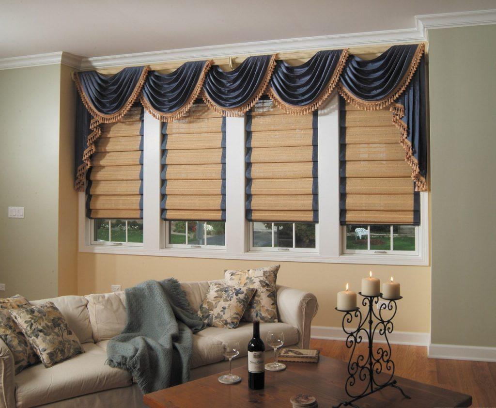 Những mẫu thiết kế rèm roman cổ điển cho không gian phòng khách