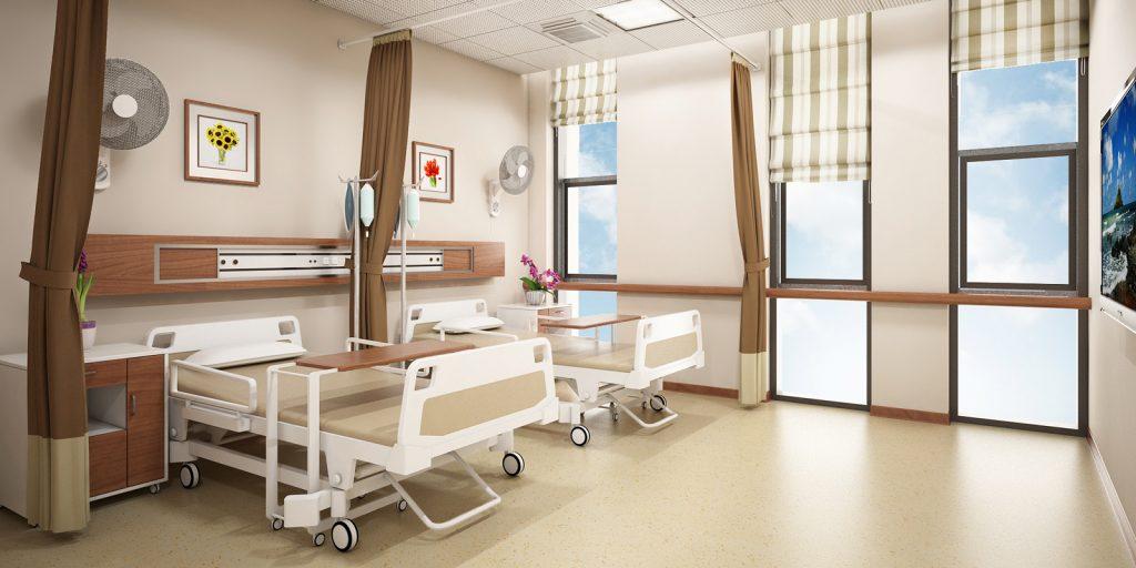 Lắp đặt rèm cuốn, rèm roman bệnh viện vô cùng tiện lợi