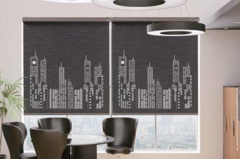 Sử dụng rèm xuyên sáng cho không gian văn phòng