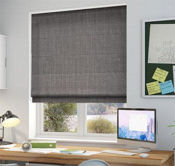 Những thiết kế rèm roman đơn giản cho phòng làm việc