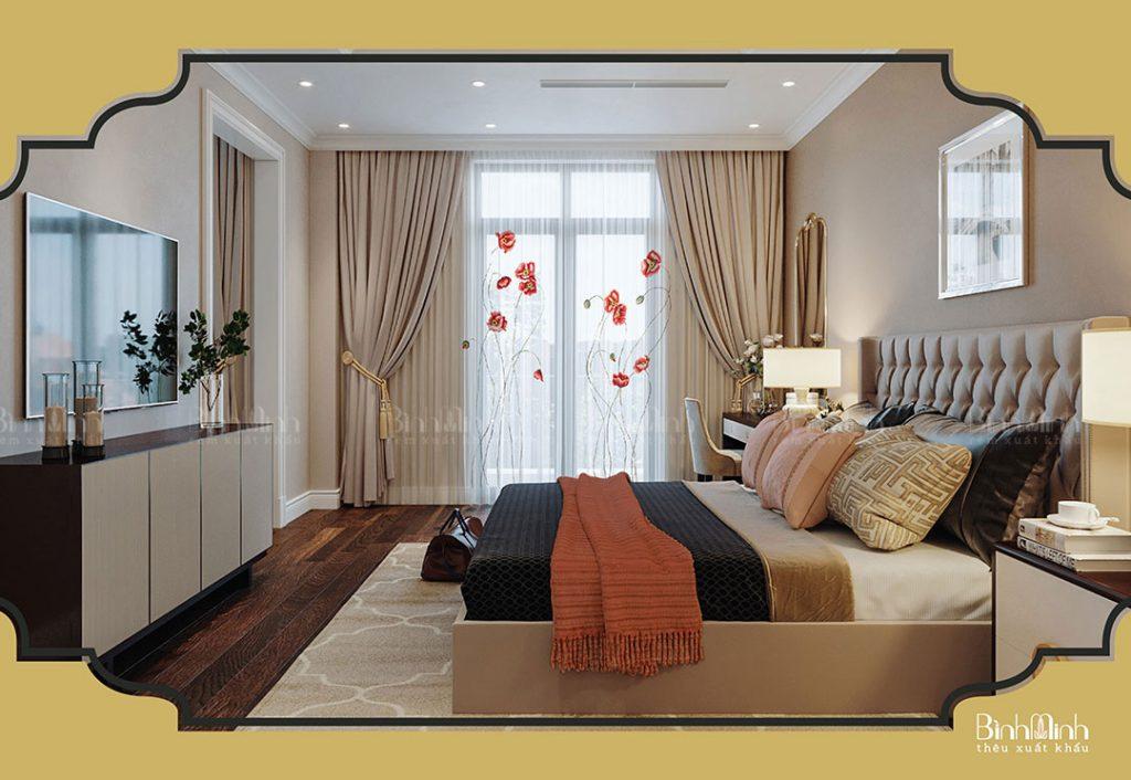 Rèm cửa sổ phòng khách Bình Minh Vina cao cấp