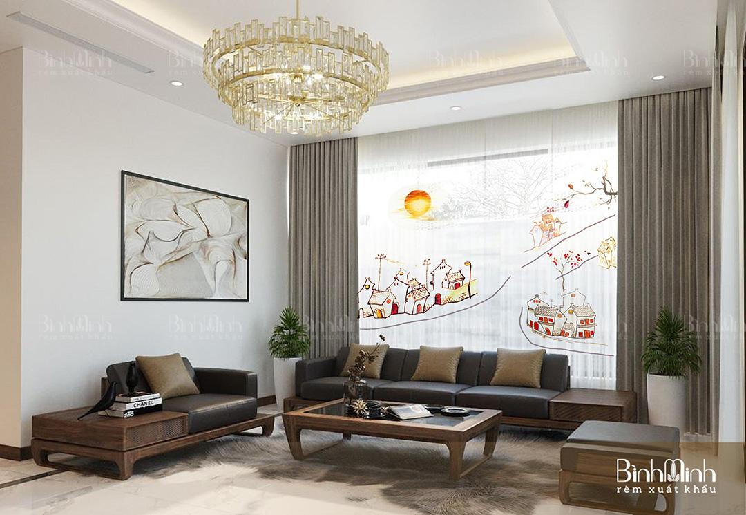 Thông tin chi tiết về dự án rèm cửa sổ Phúc Yên - Nhà anh Hùng