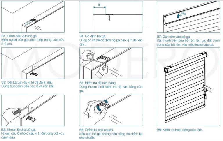 Hướng dẫn cách lắp rèm cửa sổ cầu vồng