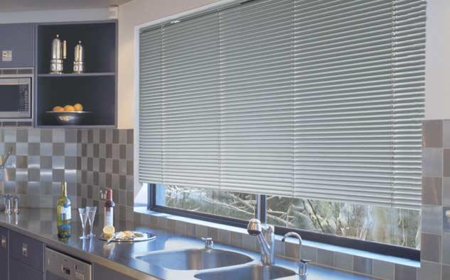 Rèm sáo nhôm sử dụng cho phòng bếp
