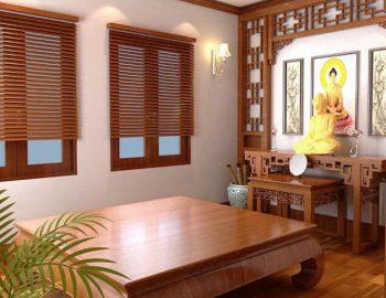 5+ mẫu rèm gỗ phòng thờ đang được ưa chuộng năm 2021