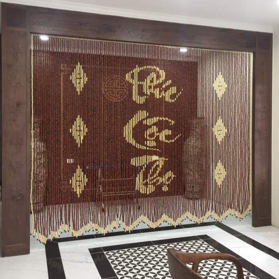 Tại sao nên lắp rèm gỗ cho không gian phòng thờ ?