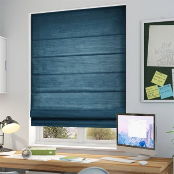 Rèm cửa xanh thẫm lựa chọn hoàn hảo cho không gian làm việc