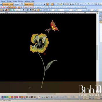 Thêu vi tính hoa nhí